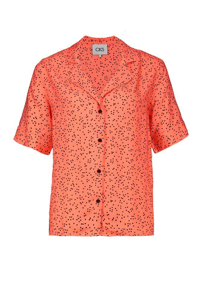 CKS WOMEN - LIKO - Bluse kurze Ärmel - Orange
