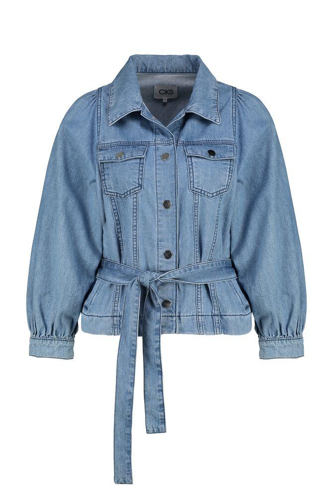 CKS WOMEN - POMANA - Jacket short - blue