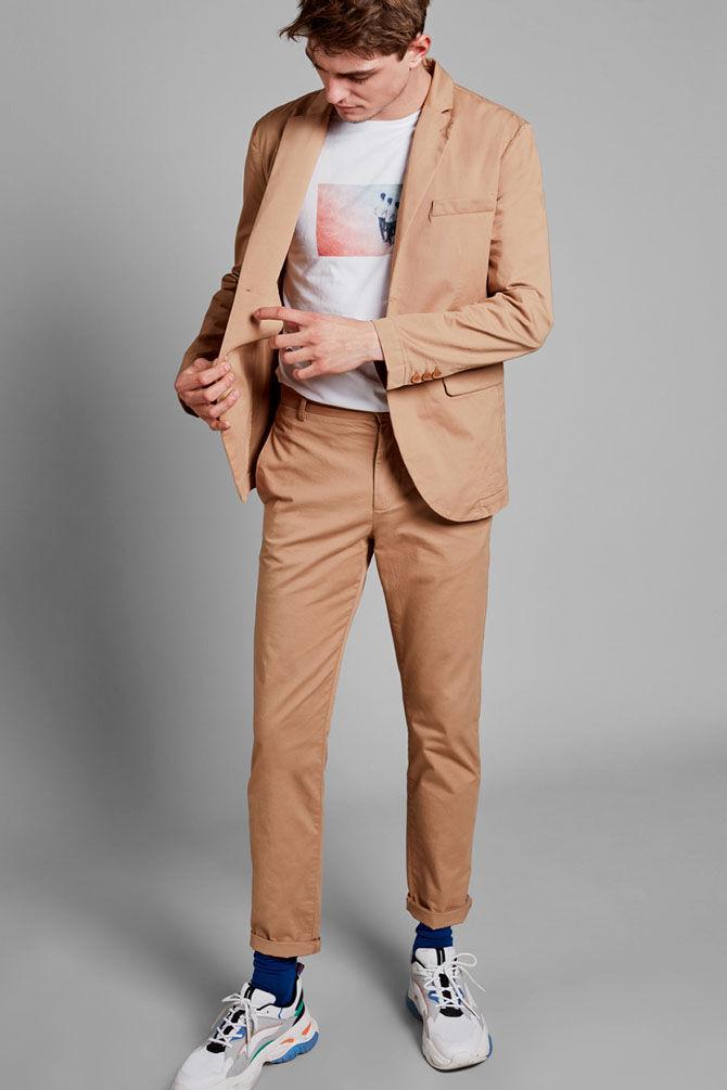 CKS MEN - NEWARK - Lange broeken - beige