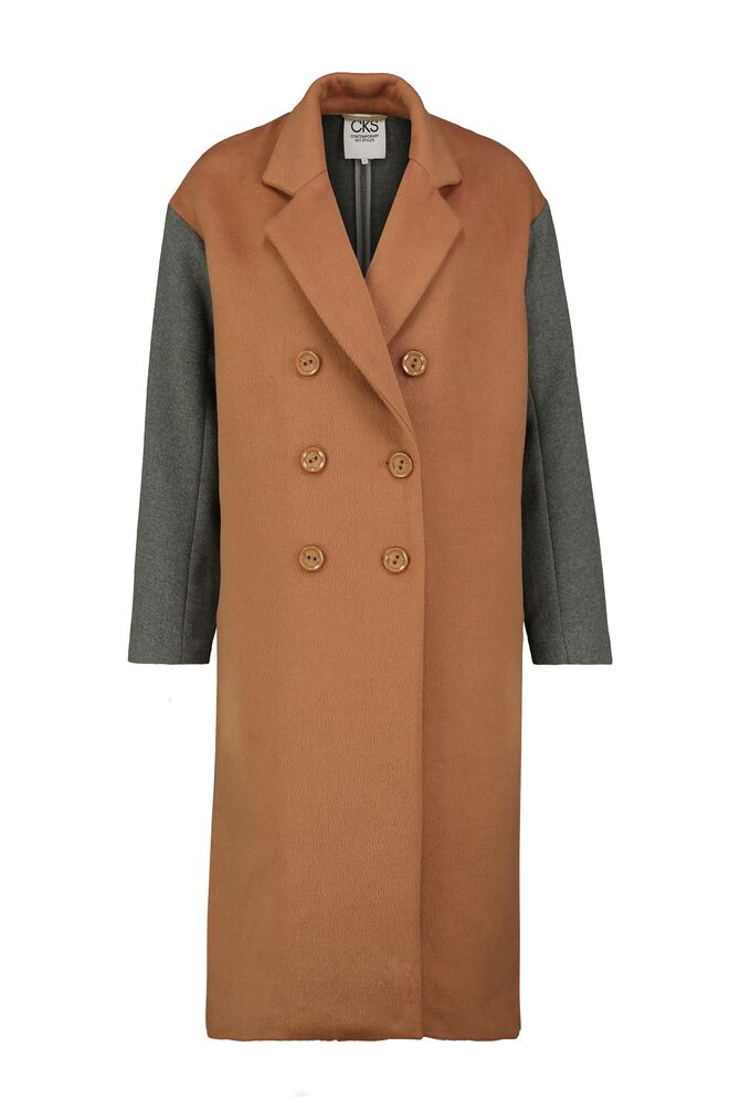 CKS WOMEN - HEMMA - Manteau long - brun