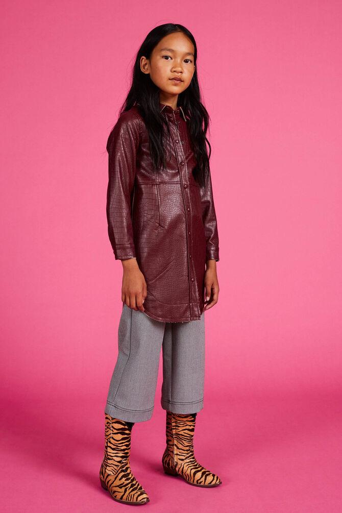 CKS KIDS - CALI - Korte jurk - bordeaux