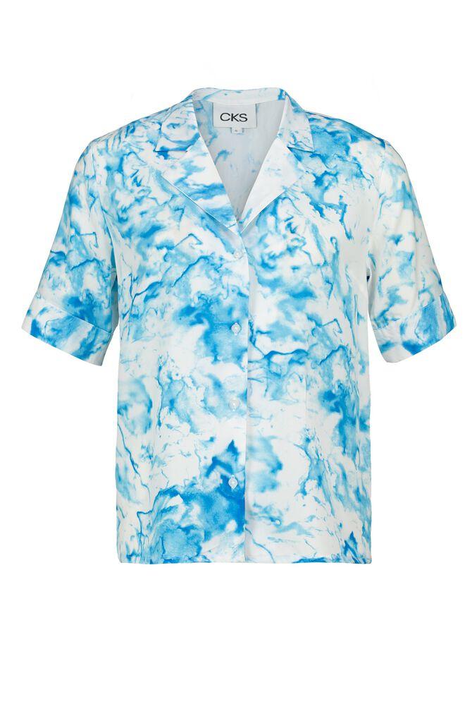 CKS WOMEN - LIAM - Blouse korte mouwen - blauw