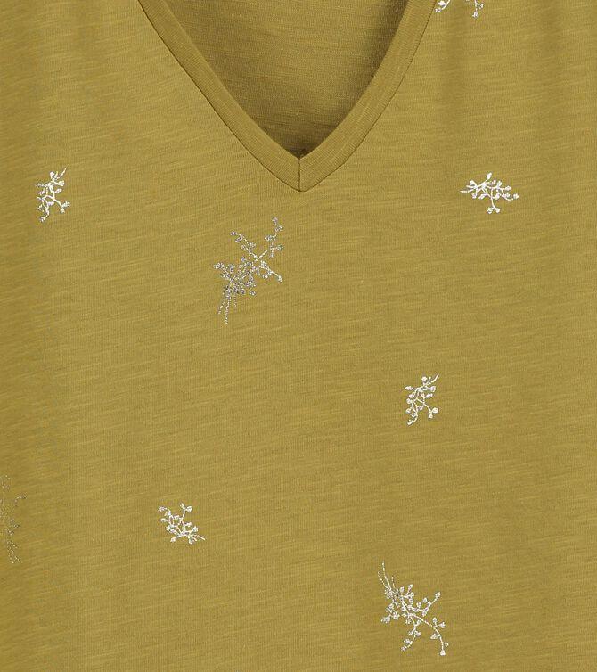 CKS WOMEN - ZAZOUFOIL - T-shirt short sleeves - green