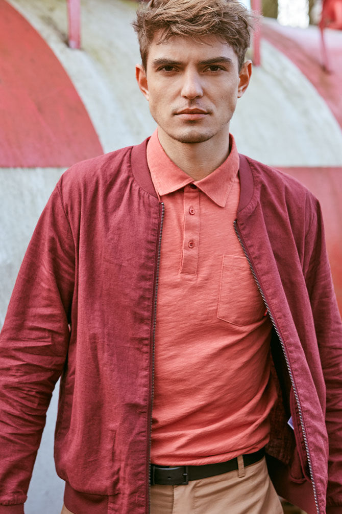 CKS MEN - NANTAMA - Jacket - rood