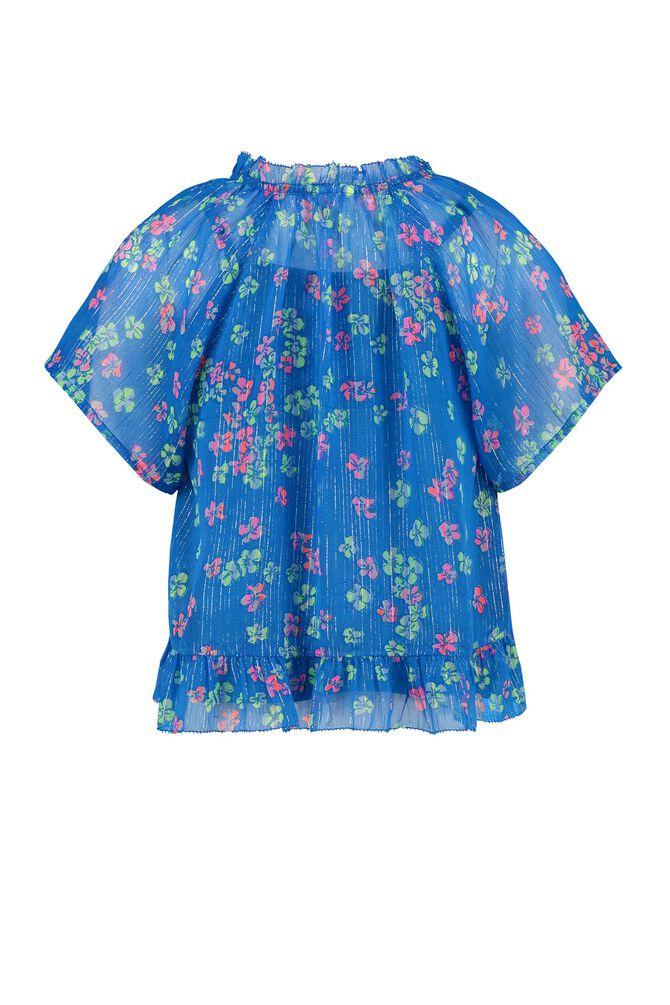 CKS KIDS - INOSHA - Bluse kurze Ärmel - Blau