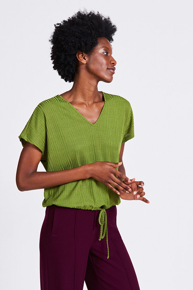 CKS WOMEN - EBINA - Blouse korte mouwen - groen
