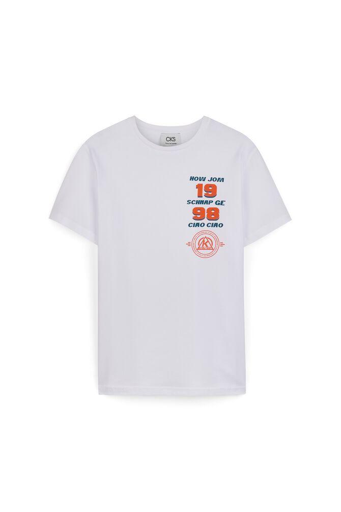 CKS MEN - HOWJOM - T-Shirts manches courtes - WHITE