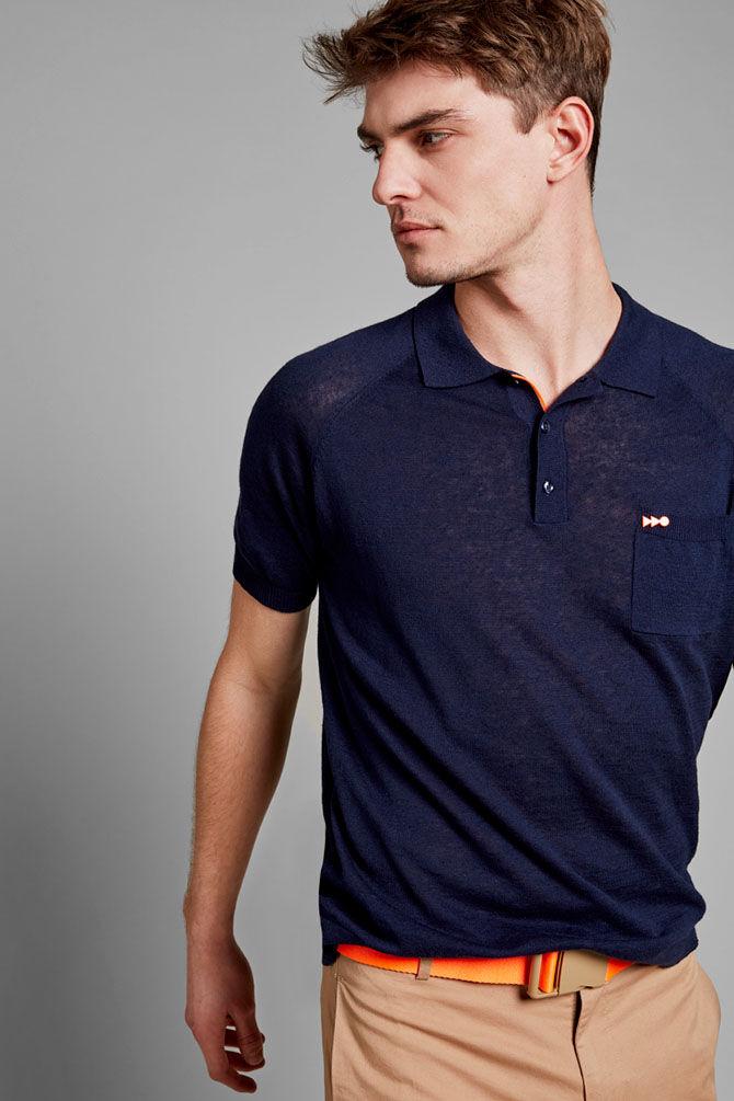 CKS MEN - NANTUCKER - Poloshirt - blauw