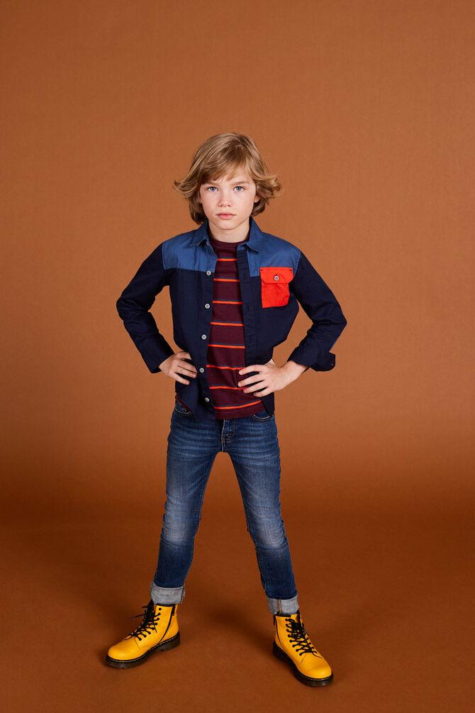 CKS KIDS - YABRIEL - Hemd lange mouwen - blauw