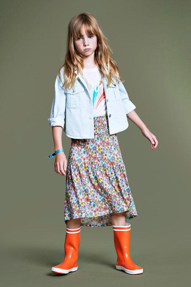 CKS KIDS - EDWINA - Maxi skirt - multicolor