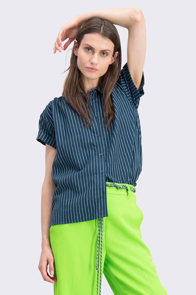 CKS WOMEN - LANDRY - Blouse korte mouwen - groen
