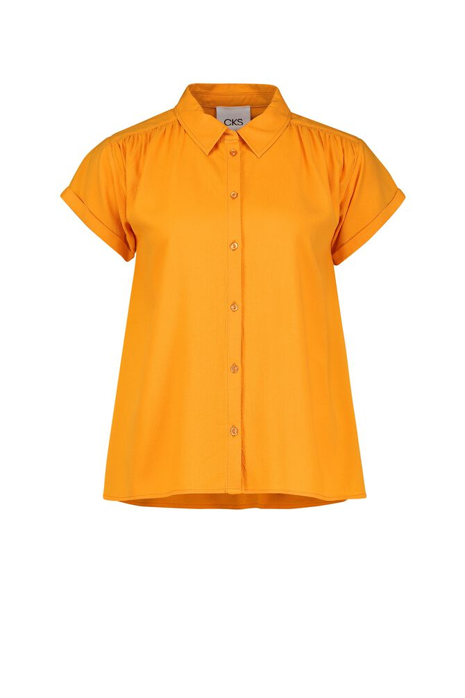 CKS WOMEN - LANDRY - Blouse korte mouwen - geel