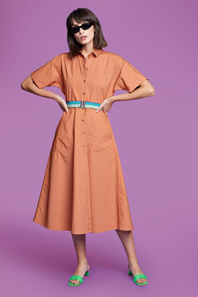 CKS WOMEN - NAMASTI - Lange jurk - oranje