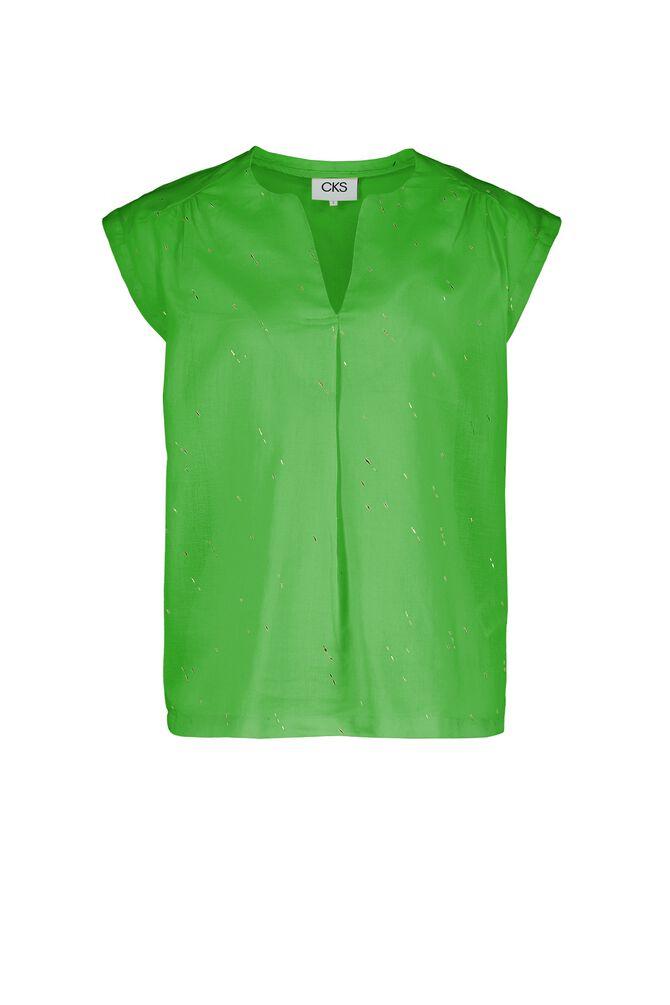 CKS WOMEN - FIDAN - Blouse short sleeves - green