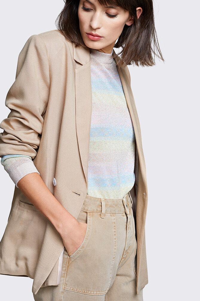 CKS WOMEN - JUNIA - Blazer long - beige