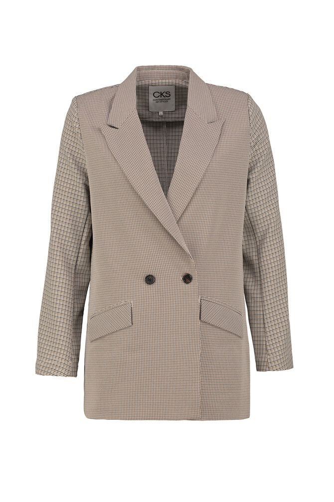 CKS WOMEN - RYZAN - Lange blazer - beige