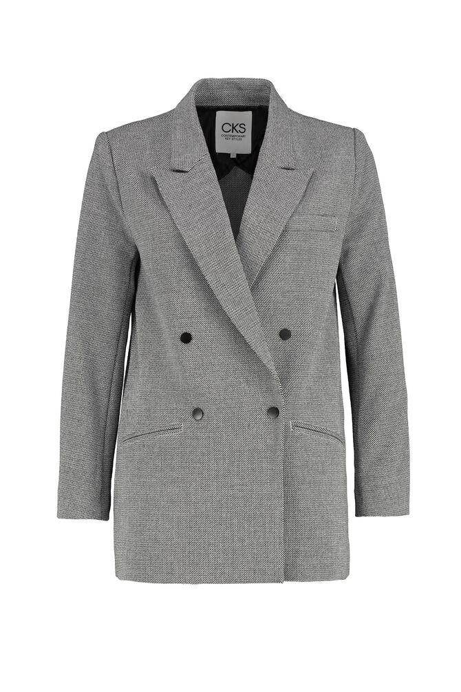 CKS WOMEN - JOLENE - Lange blazer - zwart/wit