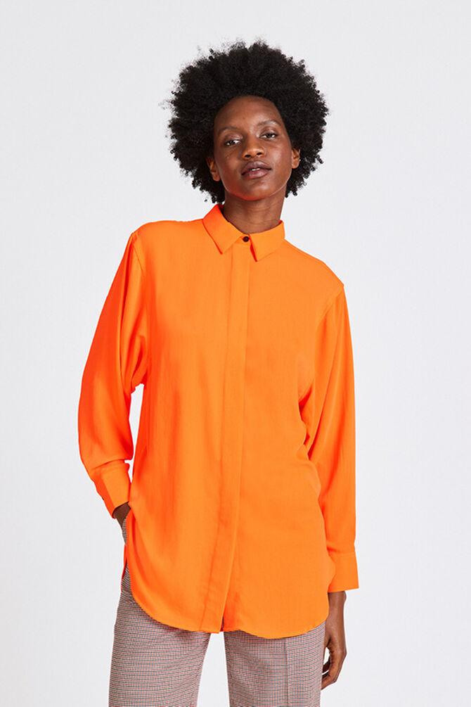 CKS WOMEN - RUTTEN - Blouse lange mouwen - oranje