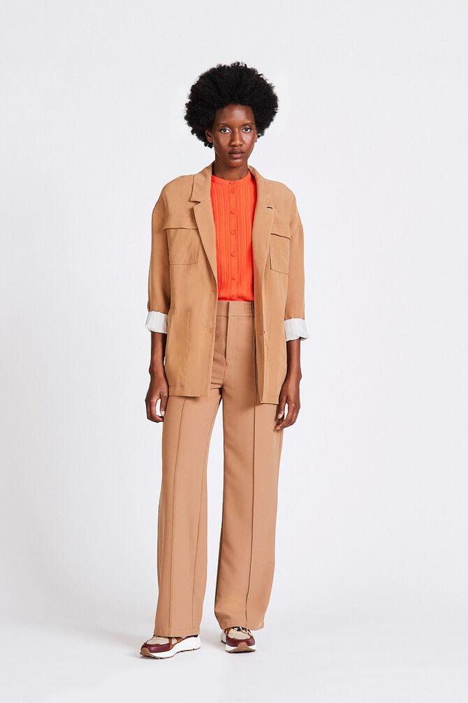 CKS WOMEN - RUUGEN - Lange jacket - beige