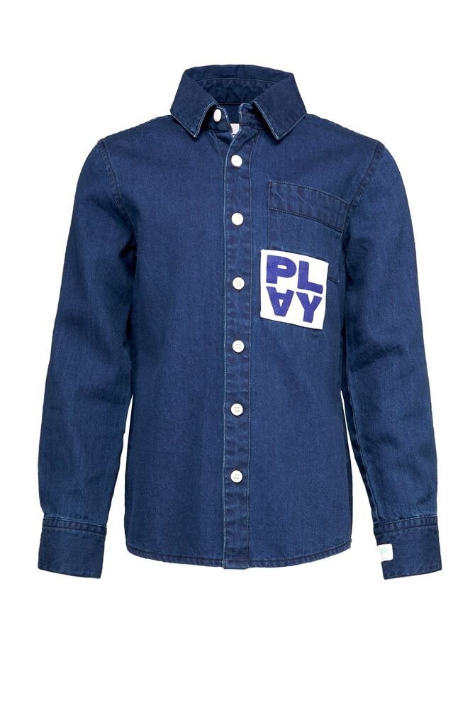 CKS KIDS - YORSAN - Shirt long sleeves - blue