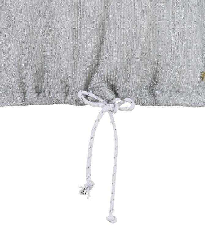 CKS KIDS - DAPHNE - Blouse korte mouwen - zilver