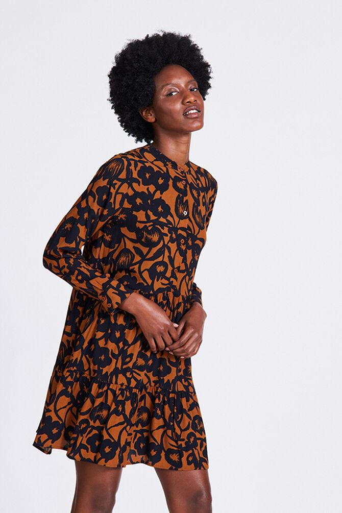CKS WOMEN - ROLDI - Korte jurk - bruin