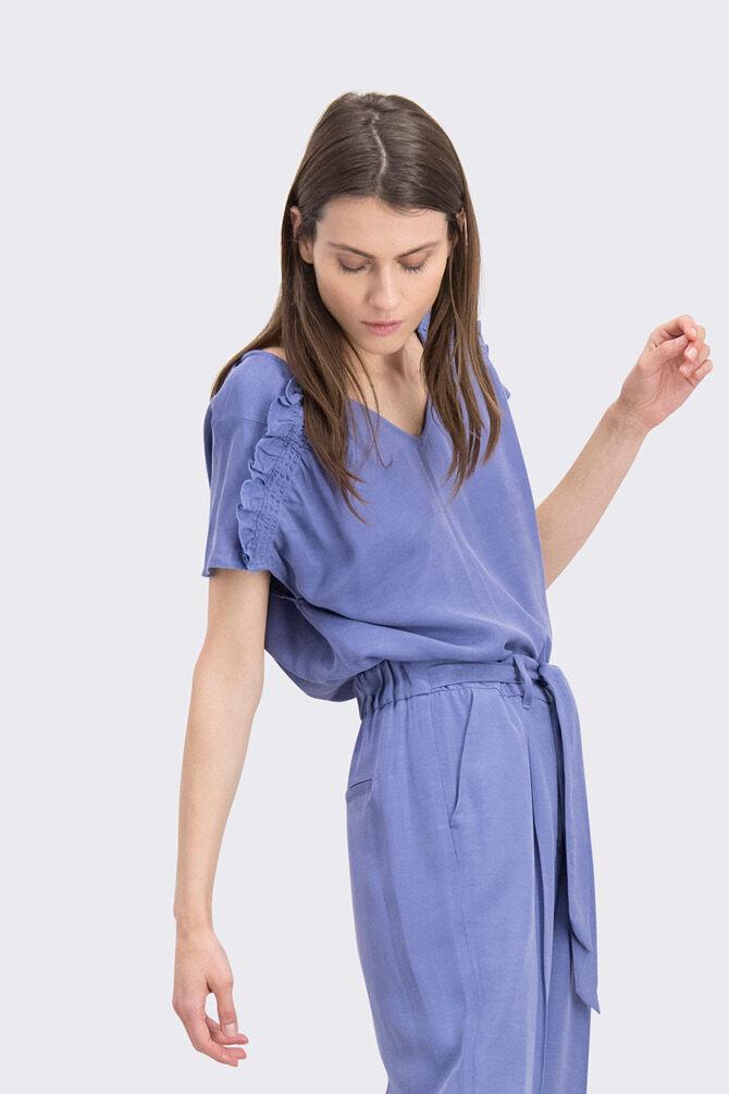 CKS WOMEN - JACENIA - Blouse sleeveless - blue