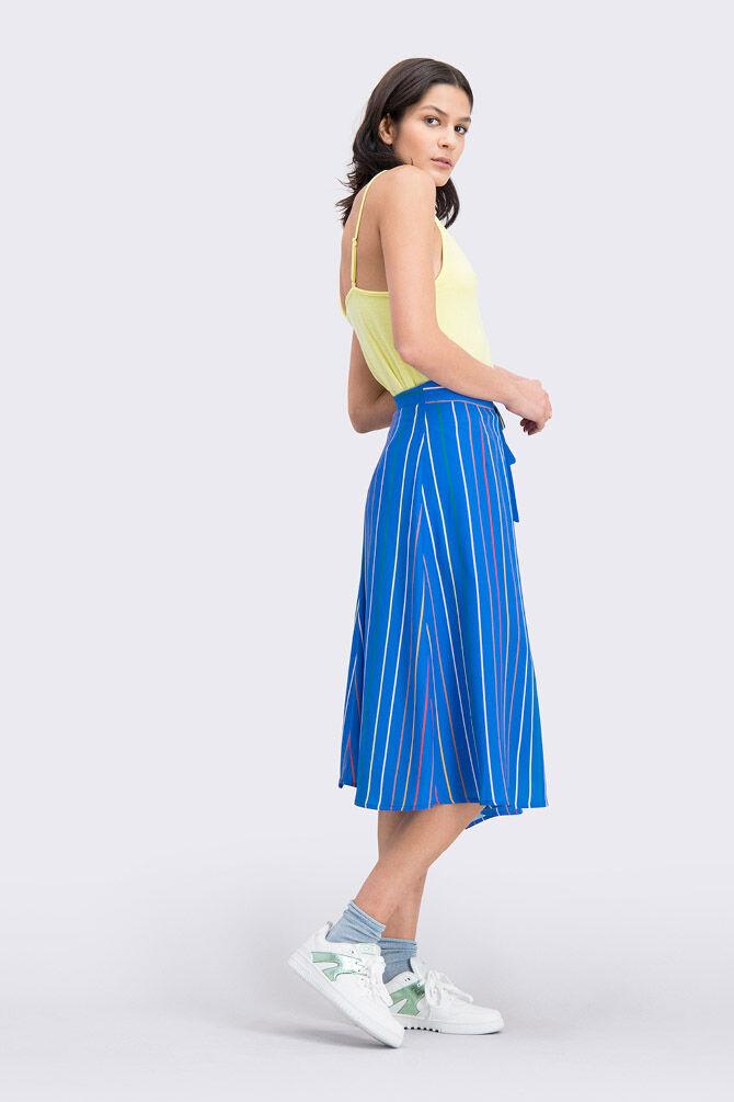 CKS WOMEN - NECHEL - Skirt long - blue
